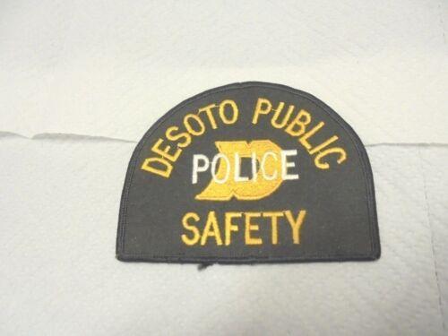 cloth patch desoto public police safety texas