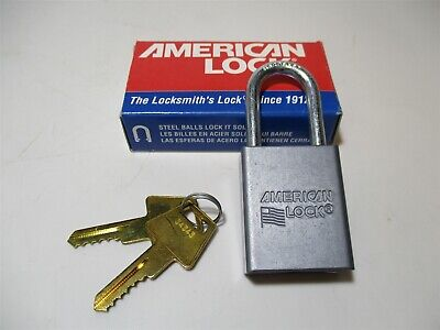 American Lock A31ka Different-keyed Open Shackle Type 1-12 Silver Padlock