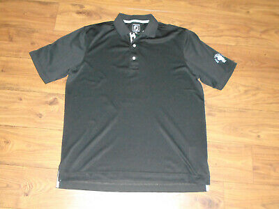 Footjoy Athletic Fit Solid Black SS Golf Polo Shirt Meat
