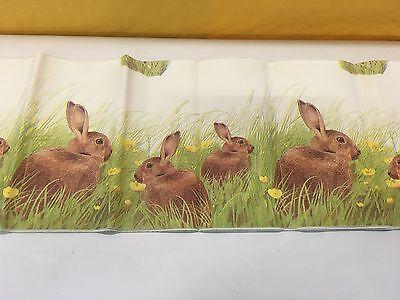 Duni Dunicel Papier Tischdecke 120 x 180 cm Ostermotiv Country Rabbit