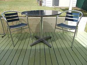 SMALL ROUND TABLE WITH 2 CHAIRS CAFE STYLE Campbelltown Campbelltown Area Preview