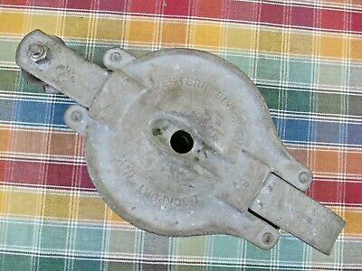 Vintage Western Block Co. 8 Barn Overhead Rope Lifting Pulley