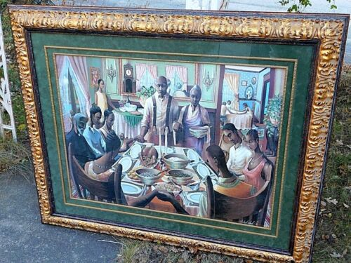 John Holyfield The Blessings Thanks giving Signed & Numbered Framed Print oil