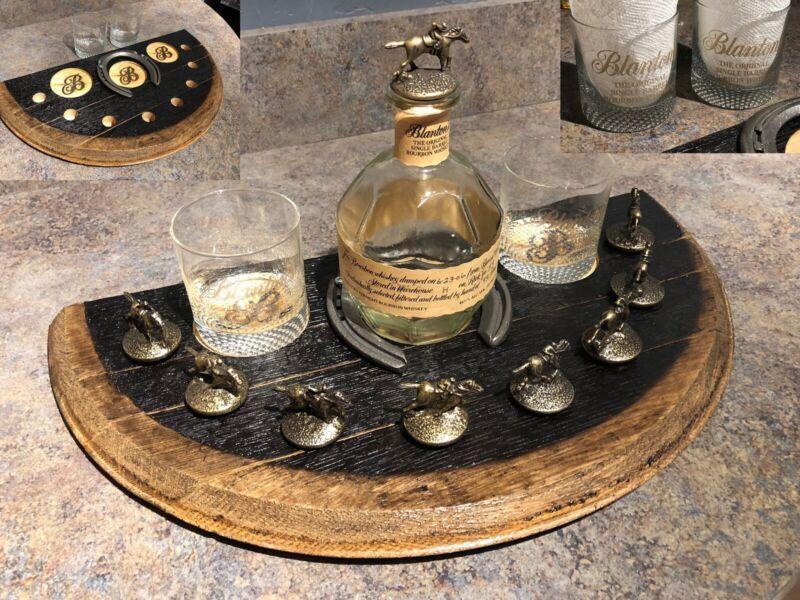 "Blanton's ""Triple Crown"" Display REAL Bourbon Barrel Wood Blantons Stopper Cork"