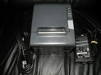 Epson Tm-t88v Thermal Pos Receipt Printer M244a Serial Usb W Power Supply