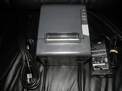 Epson TM-T88V Thermal POS Receipt Printer M244A Serial & USB w power supply