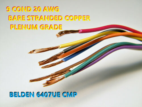 BELDEN 6407UE 9 CONDUCTOR, 20 AWG FLAMARREST® PLENUM-GRADE WIRE, 10-FOOT COIL