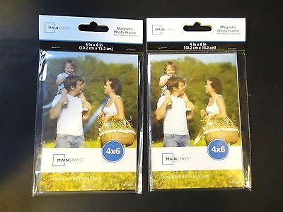 Qty 2 Magnetic Photo Frame Picture Pocket Refrigerator Magnet Photo Holder 4x6