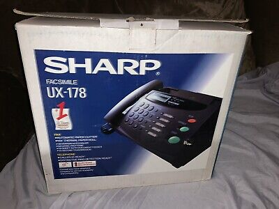 Sharp Faxsimile Telephone Fax Machine Model Ux-178 Pre-owned In E.c. Aok