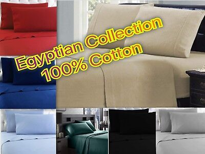 Winter Flannel 100% Cotton Sheet Set - Egyptian Collection - 4 Piece Bed Set ()
