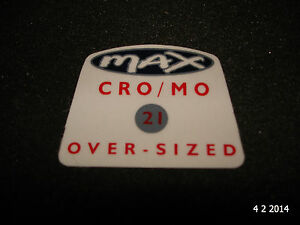 1-AUTHENTIC-NOS-RALEIGH-MAX-CRO-MO-OVER-SIZED-BIKE-FRAME-STICKER-12-DECAL