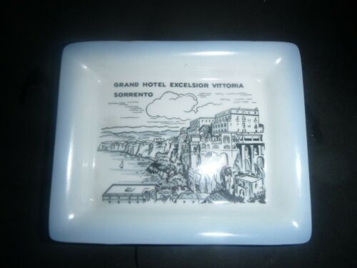 Vintage Richard Ginori Grand Hotel Excelsior Vittoria Sorrento Italy Ashtray