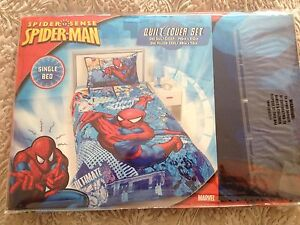 Single bed cover set - quilt cover and case - spiderman! Kellyville The Hills District Preview