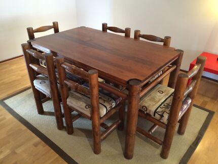 Solid Pine dining table and 6 chairs Hillarys Joondalup Area Preview