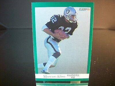 Marcus Allen Fleer 1991 Card #102 Oakland Raiders NFL Football  1991 Fleer Nfl Card
