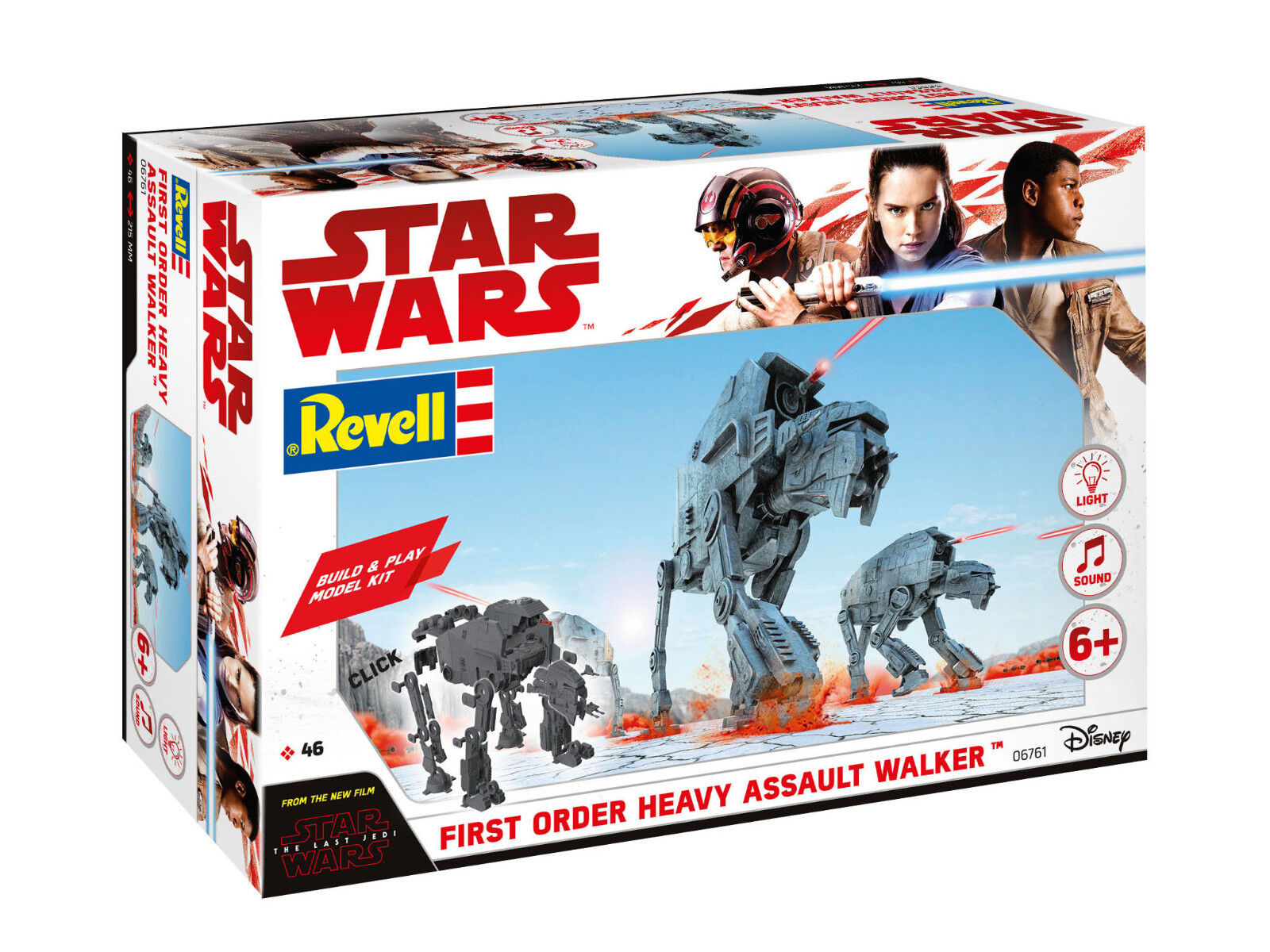 45431 | Revell 06761 Star Wars Heavy Assault Walker Sound Licht Bausatz NEU OVP