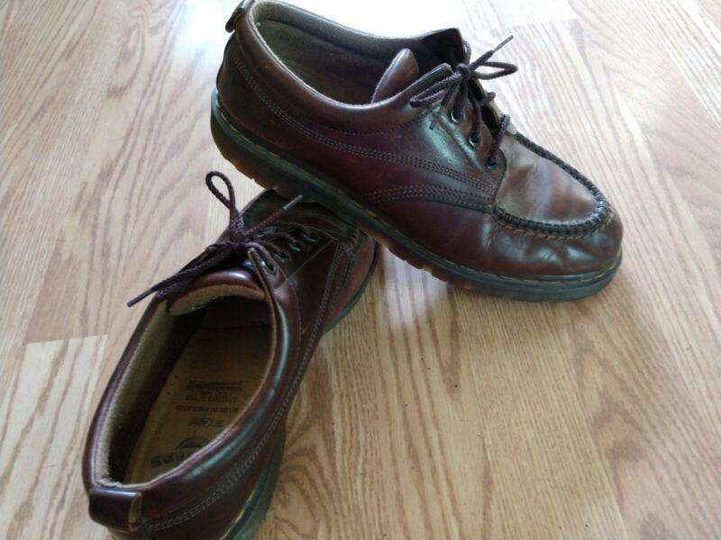"Dr. Martens Oxfords ""England""  10 UK 11 US Brown Leather Vintage Casual #8054"