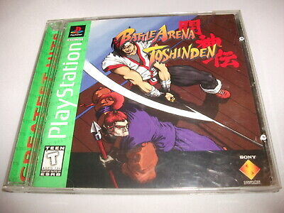 Battle Arena Toshinden Greatest Hits Playstation PS1 1 or 2 Players Variant RARE