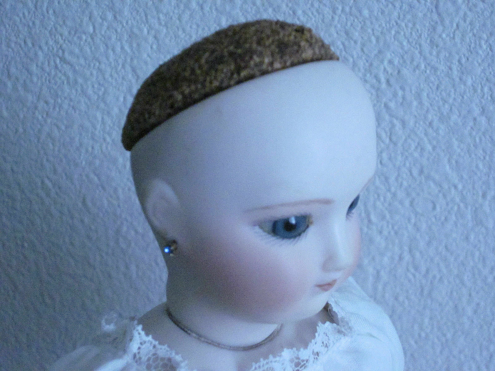 Cork Pate For Antique Doll With Open Head 1 6/8 X 1 1/2 45mm X 41mm  - $8.15