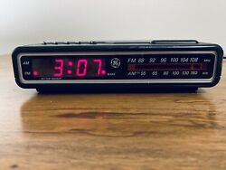 GE Digital Alarm Clock Radio AM/FM Model  7-4612 BKB Black / Gray Vintage 80's