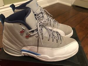 Jordan University grey/blue 12s (used)