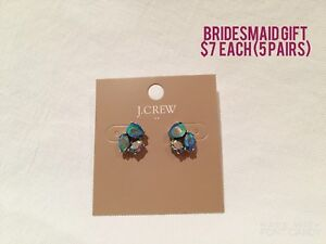 J.Crew sparky earrings (5 pairs)