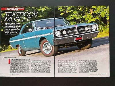 1968 Dodge Dart GTS 383 - Original 6 Page Color Article