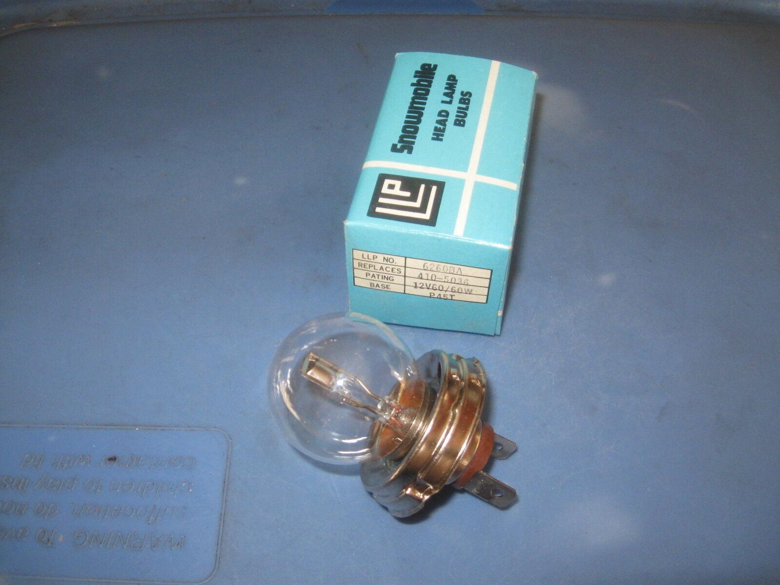 Snowmobile Headlight Bulb. 6260BA. 12V60/60W. LLP Brand NOS