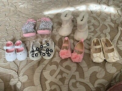 Baby Girls Shoes Lot Size 0, 3-6 Months, 2 & 3 Koala Baby, Carter's, Stepping St