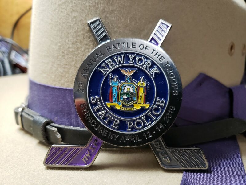 New York State Police Battle Of The Troops Hockey Tournament Challenge Coin 2nd
