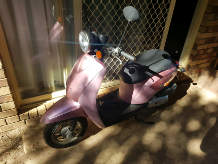 Pink Honda today moped/scooter
