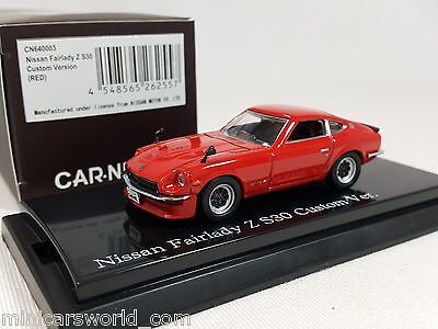 1:64 Kyosho CAR.NEL Nissan Fairlady Z S30 Datsun 432 1969-1978 Custom Ver Red