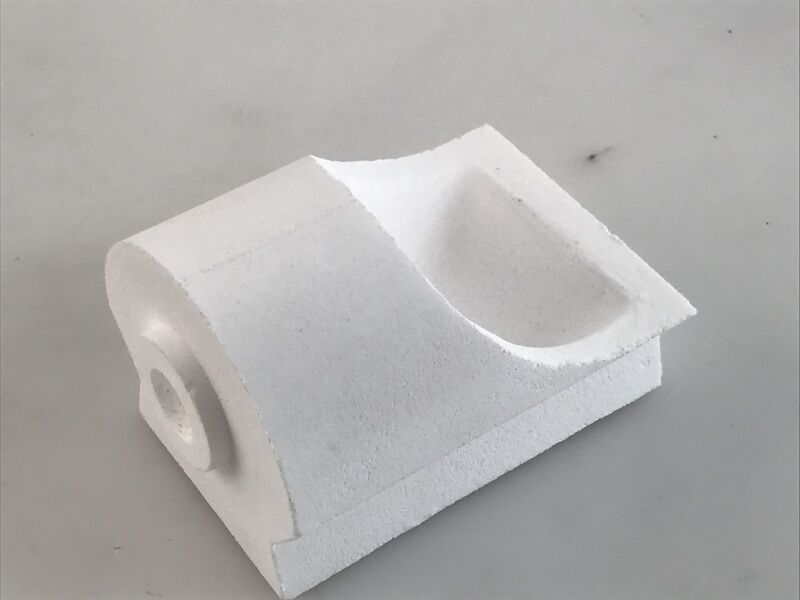 PLATINUM CASTING CRUCIBLE TYPE D STANDARD HOLE CAST PLATINUM VERTICAL TORCH MELT