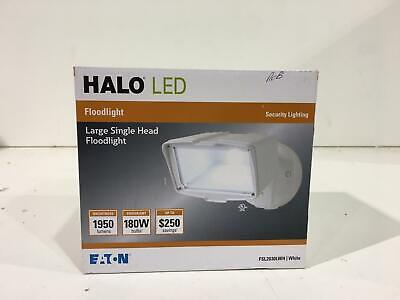 Halo FSL2030LWH White Outdoor Integrated LED Large-Head Security Flood Light Light Large Head