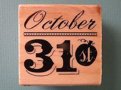 October 31st CRAFTSMART Rubber Stamp Halloween](31 October Halloween)