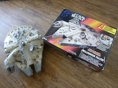 KENNER TONKA STAR WARS MILLENIUM FALCON 1995 BOXED ELECTRONIC TOY.
