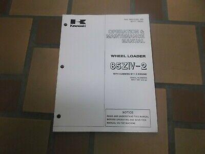 Kawasaki 85ziv-2 Wheel Loader Owner Operator User Guide Maintenance Manual