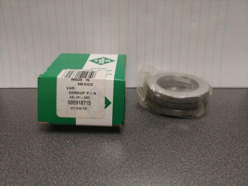 INA W1 3/8 (AKL.W1-3/8E) 3 Piece Thrust Ball Bearing Brand NEW