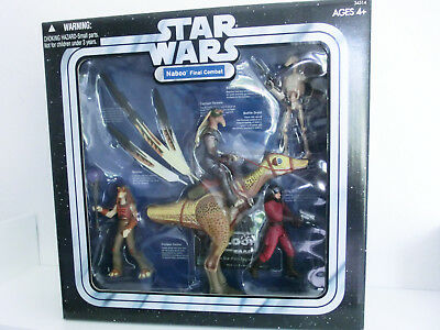 STAR WARS NABOO FINAL COMBAT ACTIONFIGUREN NEU MISB HASBRO LEGACY TRILOGY MULTI