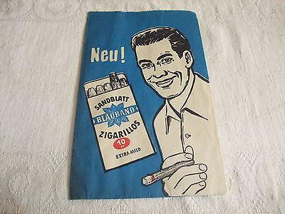 Werbung Reklame Tante Emma Laden Tüte Reklametüte Blauband Sandblatt Zigarillos