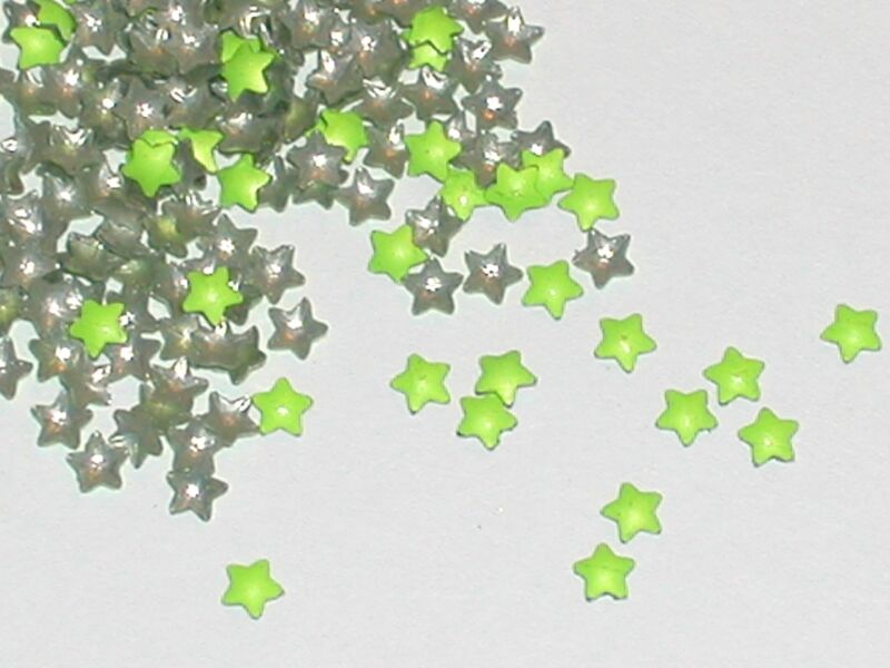 40pc.Gems Metal pop up tiny fairy metal STARS for glass bottle vials crafts 3mm