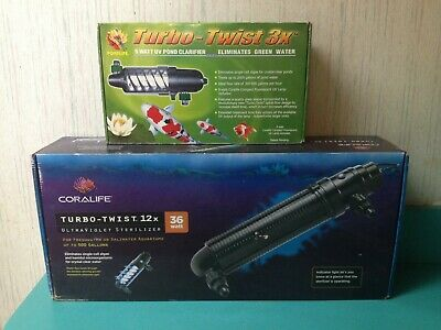 Coralife Pond Turbo Twist - Coralife Turbo Twist UV Sterilizer: Pond 3x 9w or Aquarium 12x 36w