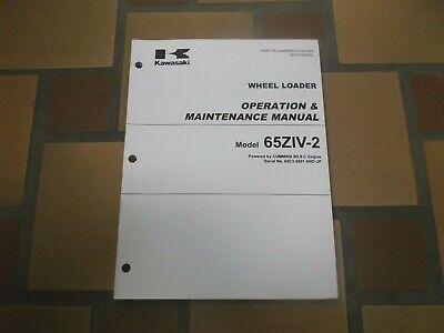 Kawasaki 65ziv-2 Wheel Loader Owner Operator User Guide Maintenance Manual