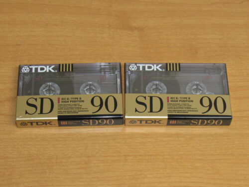 Lot of 2 TDK SD 90 IEC II / Type II High Position Blank Cassette Tapes - New