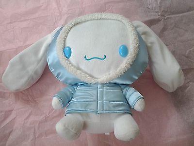 Rare Sanrio vintage Cinnamoroll plush 11 inches puffy winter coat Hello Kitty