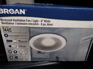 Brand new bathroom exhaust fan with light