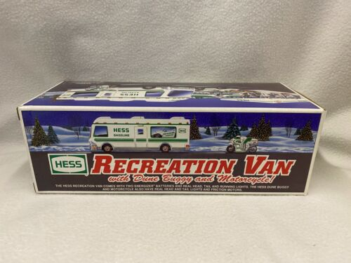 1998 Hess Toy Truck RV with Dune Buggy NIB New in Box Unopened Motorcycle