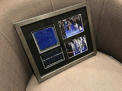STAR WARS EP IX - A PIECE OF THE PREMIERE CARPET - FRAMED W/COA - PROP