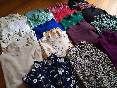 NWT Women's Laura Scott 100% Cotton Mock Neck Turtleneck Shirt Blouse ()
