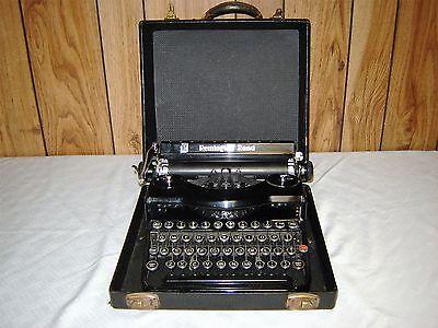 Vintage Remington Rand Model 1 Portable Typewriter With Original Case